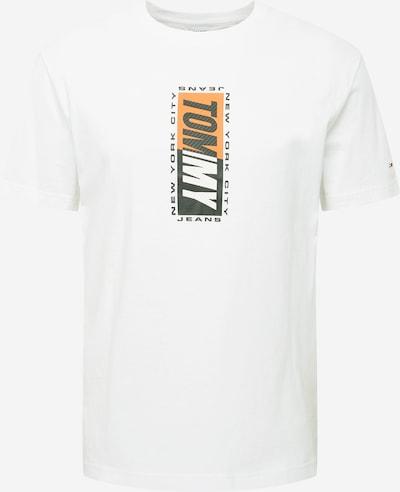 Tommy Jeans Majica | antracit / oranžna / bela barva, Prikaz izdelka