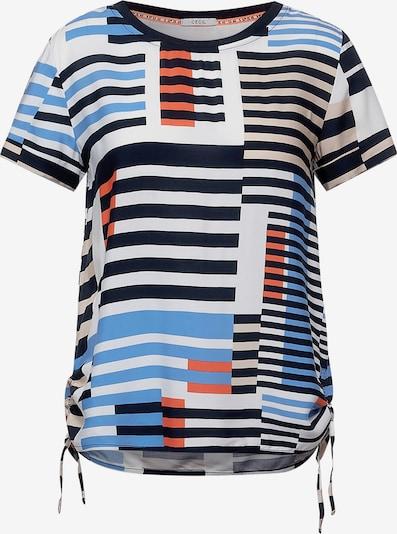 CECIL Bluse in royalblau / orange / schwarz / weiß, Produktansicht