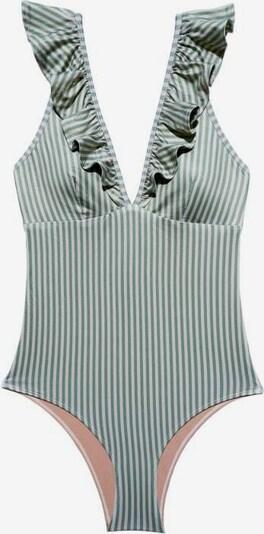 Underprotection Badeanzug ' Rita ' in oliv / weiß, Produktansicht