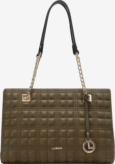 L.CREDI Shopper 'Fleur' in grün / khaki, Produktansicht