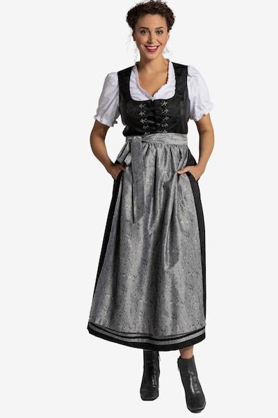 Ulla Popken Dirndl en gris / noir, Vue avec modèle