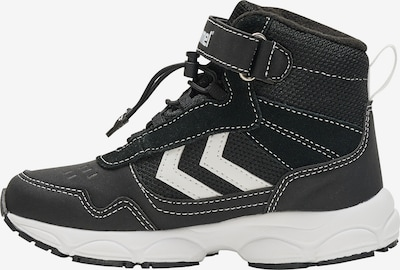 Hummel Stiefel in schwarz / weiß, Produktansicht