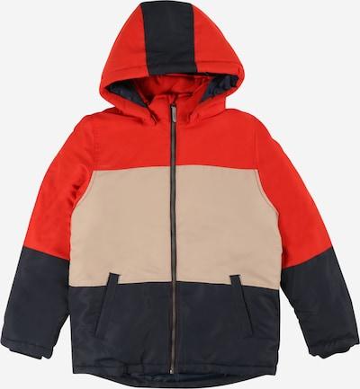 NAME IT Övergångsjacka 'MAX' i nude / marinblå / orangeröd, Produktvy