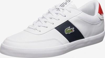 LACOSTE Sneaker 'Court Master' in navy / rot / weiß, Produktansicht
