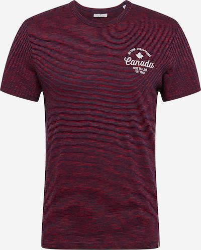 TOM TAILOR Shirt in navy / dunkelrot / weiß, Produktansicht