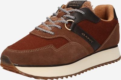 GANT Låg sneaker 'Bevinda' i brun / rostbrun / svart, Produktvy