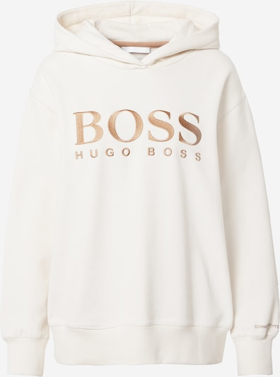 BOSS Casual Sweatshirt 'Edelight' in gold / weiß: Frontalansicht