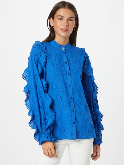 Fabienne Chapot Blusa 'Josefin' en azul, Vista del modelo