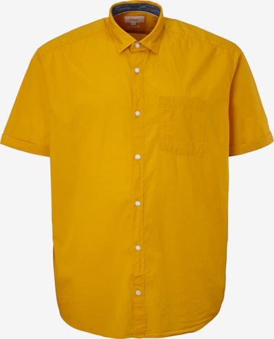 s.Oliver Red Label Big & Tall Regular: Hemd aus Baumwolle in gelb, Produktansicht
