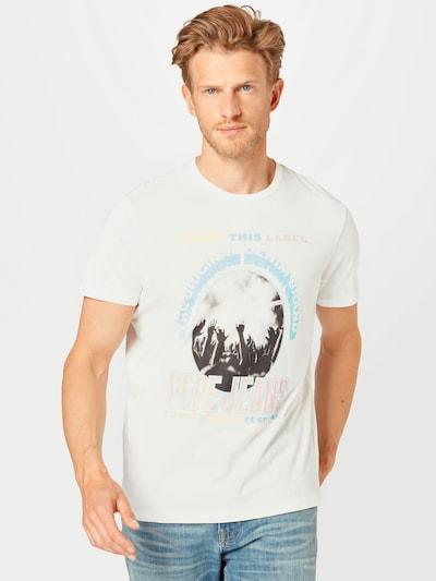 Pepe Jeans T-Shirt 'MATT' en mélange de couleurs / blanc naturel: Vue de face