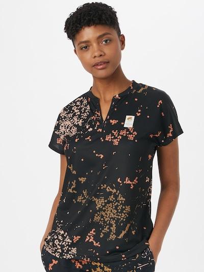 Maloja Toiminnallinen paita 'All Mountain' värissä beige / sitruuna / pastellioranssi / musta: Näkymä edestä