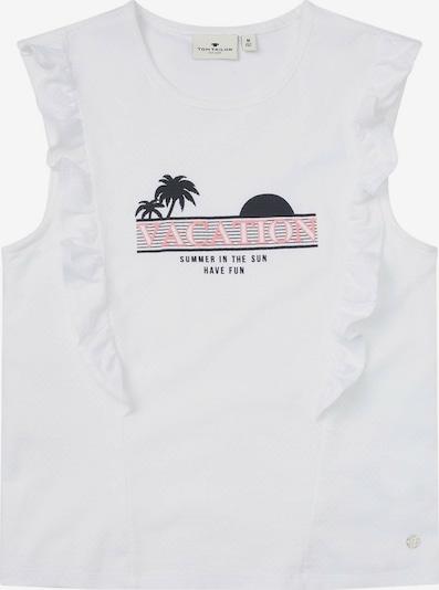 TOM TAILOR Top in de kleur Rosa / Zwart / Wit, Productweergave
