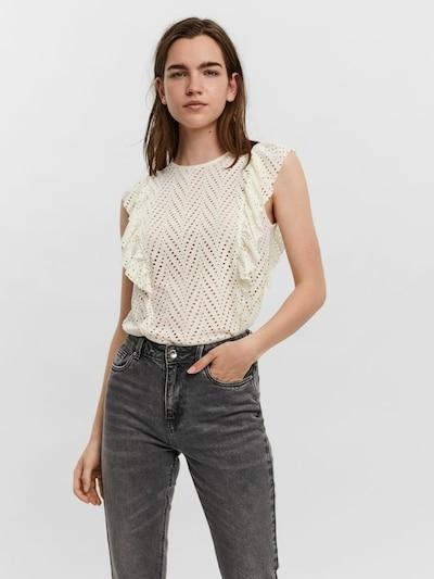 VERO MODA Bluza 'LEAH'   kremna barva, Prikaz modela