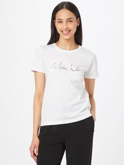 Calvin Klein Shirt in silber / weiß: Frontalansicht