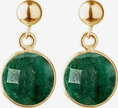 Gemshine Ohrringe in gold / smaragd, Produktansicht