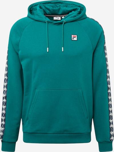 FILA Sweat-shirt 'HUDD' en bleu marine / pétrole / rouge clair / blanc, Vue avec produit