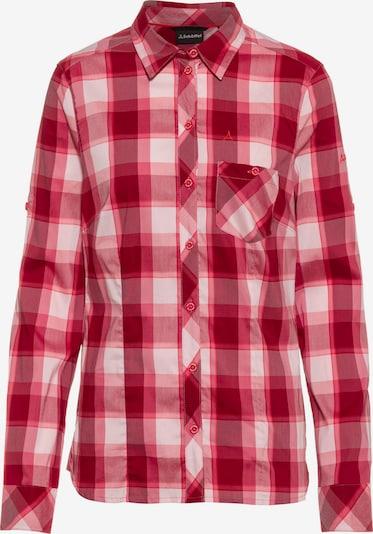 Schöffel Funktionsbluse 'Duleda' in pink / rot / weiß, Produktansicht
