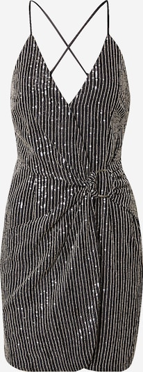 Missguided Koktejlové šaty - černá / stříbrná, Produkt