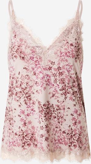 rosemunde Top in de kleur Pink / Lichtroze / Bordeaux / Wolwit, Productweergave