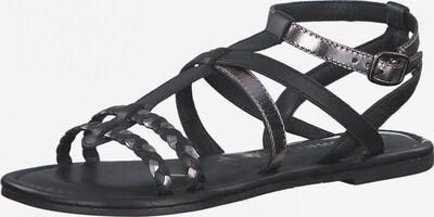 TAMARIS Sandales à lanières en noir / argent, Vue avec produit