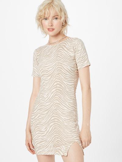 Motel Kleid 'Sonali' in camel / weiß, Modelansicht