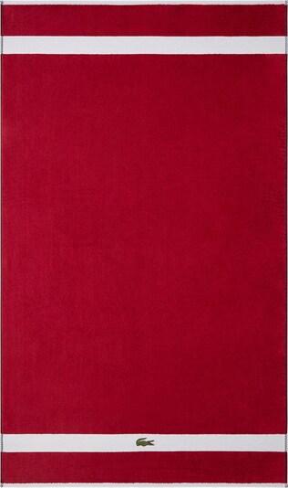 LACOSTE Badetuch in rot / weiß, Produktansicht