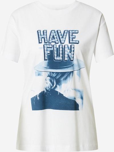 Rich & Royal T-Shirt 'Have Fun' in hellblau / dunkelblau / weiß, Produktansicht