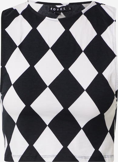 Motel Top in de kleur Zwart / Wit, Productweergave