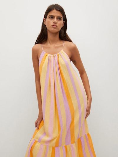 MANGO Summer Dress 'Niza' in Honey / Light yellow / Light purple / Light pink, View model