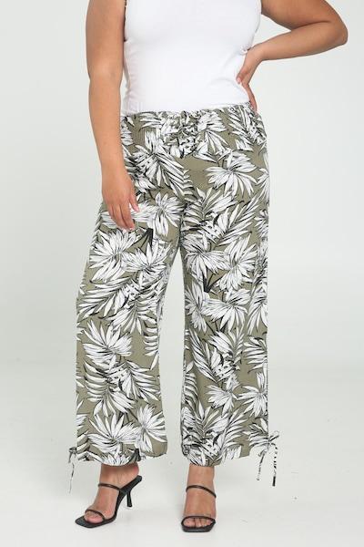 Paprika Hose in khaki / weiß, Modelansicht