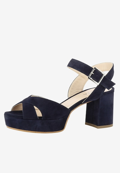 EVITA Damen Sandalette PAOLA in blau: Frontalansicht