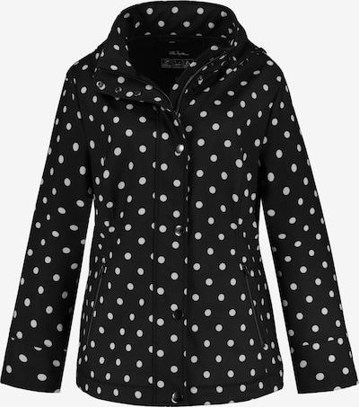 Ulla Popken Chaqueta de entretiempo en negro / blanco, Vista del producto