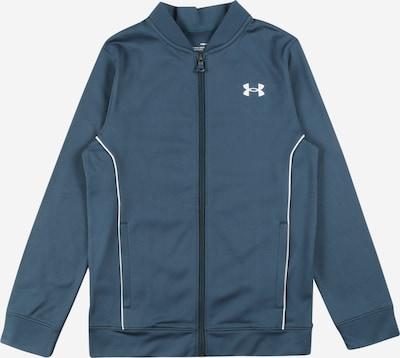 UNDER ARMOUR Athletic Zip-Up Hoodie in Dark blue / White, Item view