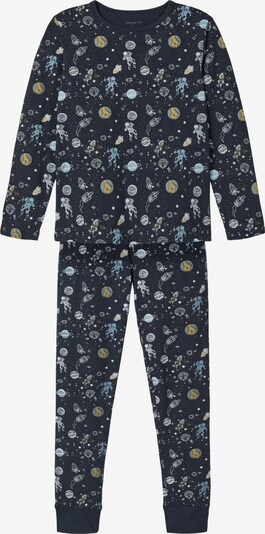 NAME IT Pajamas in Opal / Dark blue / Mustard / Khaki / White, Item view