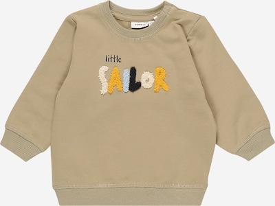 NAME IT Sweatshirt in rauchblau / gelb / greige / schwarz / weiß, Produktansicht