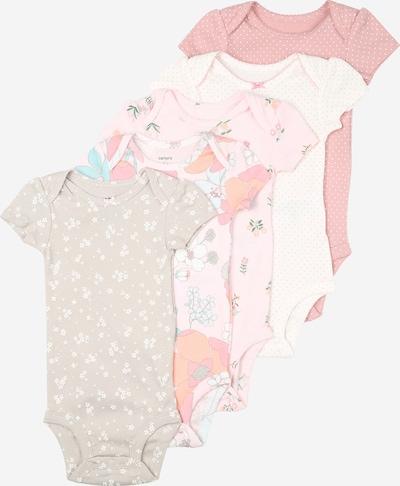 Carter's Body in greige / pink / weiß, Produktansicht