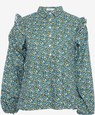 Noella Bluse 'Tilla' in blau / gelb / weiß, Produktansicht