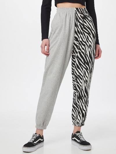 Tally Weijl Kalhoty - šedý melír / černá / bílá, Model/ka