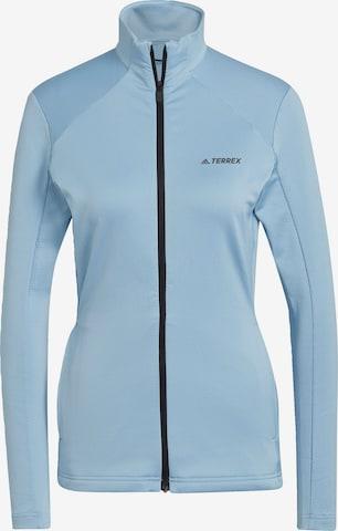 adidas Terrex Sportjas in Blauw