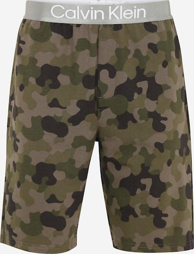 Calvin Klein Underwear Pyjamahose en grau / anthrazit / grün / khaki / weiß, Vue avec produit