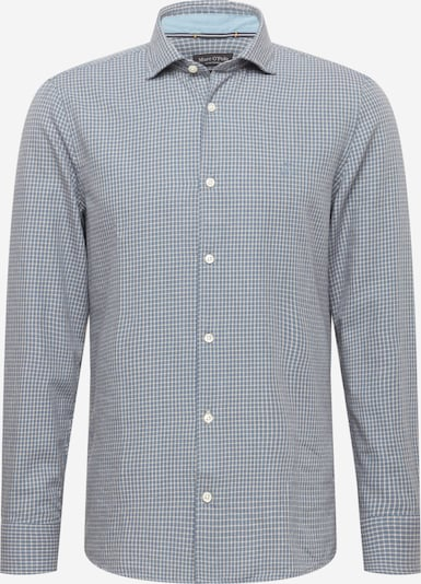 Marc O'Polo Hemd in taubenblau / weiß, Produktansicht