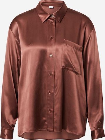 A LOT LESS Bluse 'Juna' in Braun