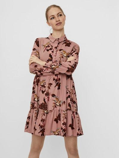 VERO MODA Blusenkleid in gelb / pink / rot / weiß, Modelansicht