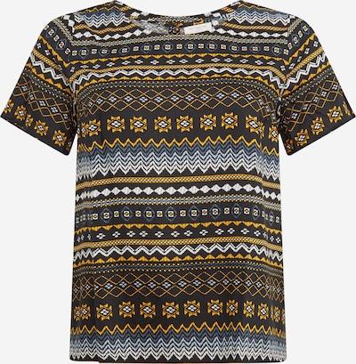 Marškinėliai iš ONLY Carmakoma , spalva - geltona / juoda / balta, Prekių apžvalga