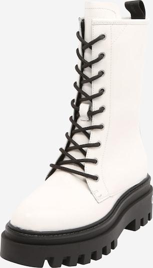 Ghete cu șireturi Calvin Klein pe negru / alb, Vizualizare produs