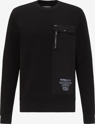 Petrol Industries Sweatshirt in schwarz / weiß, Produktansicht