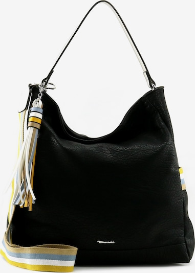 TAMARIS Schoudertas 'Christa' in de kleur Lichtblauw / Geel / Zwart / Wit, Productweergave