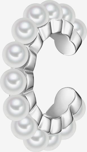 Glanzstücke München Ohrklemme in silber / perlweiß, Produktansicht