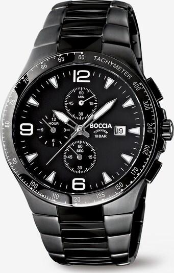 Boccia Titanium Analoguhr in grau / schwarz / weiß, Produktansicht