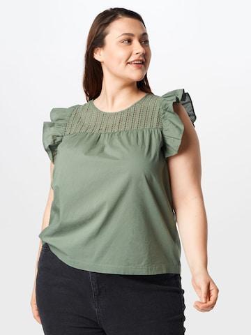 Vero Moda Curve Bluse 'LORETTA' in Grün
